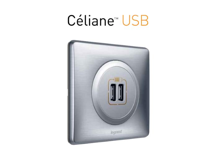 USB розетка для зарядки сразу двух телефоном